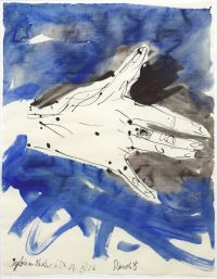 2006, watercolours and ins on laid paper, dated and signed, 50,5 x 65,5