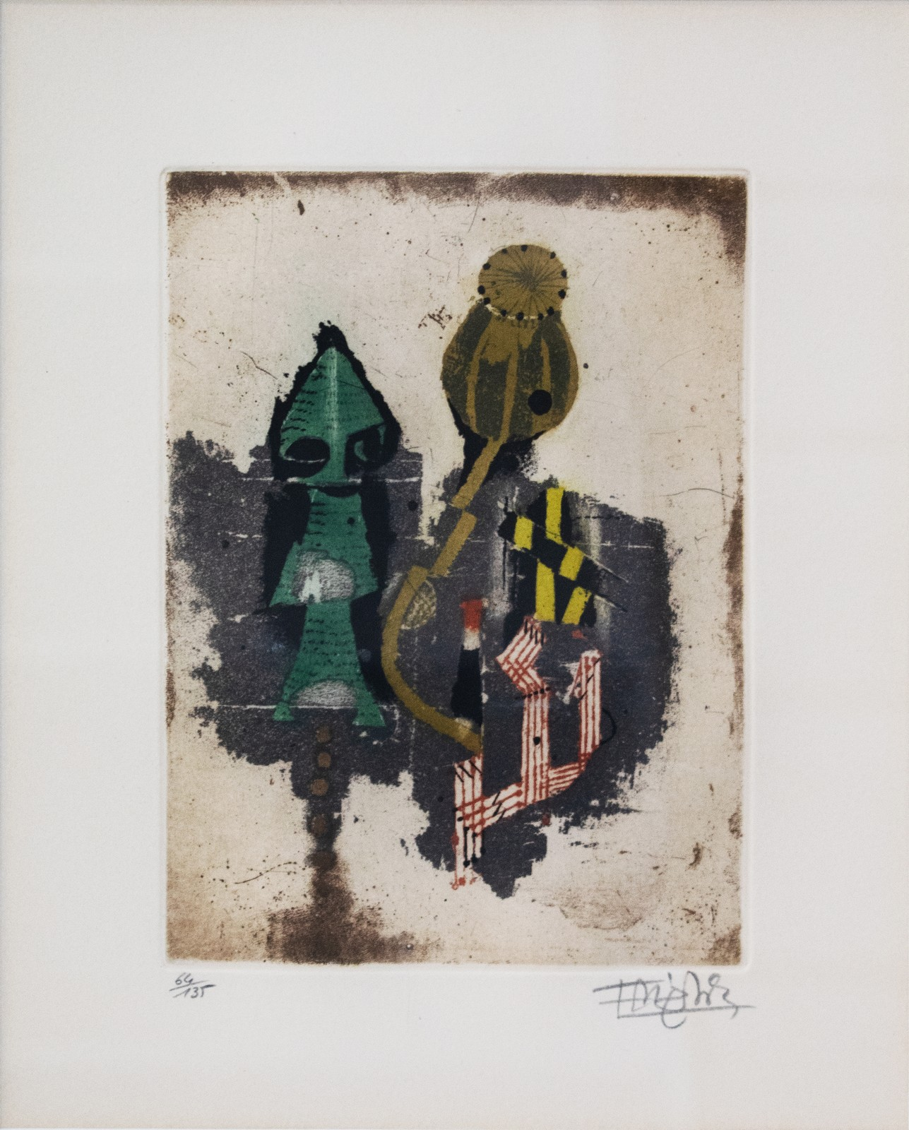 1964, aquatint, etching on paper, signed, 64/135, 14,9 x 20 cm