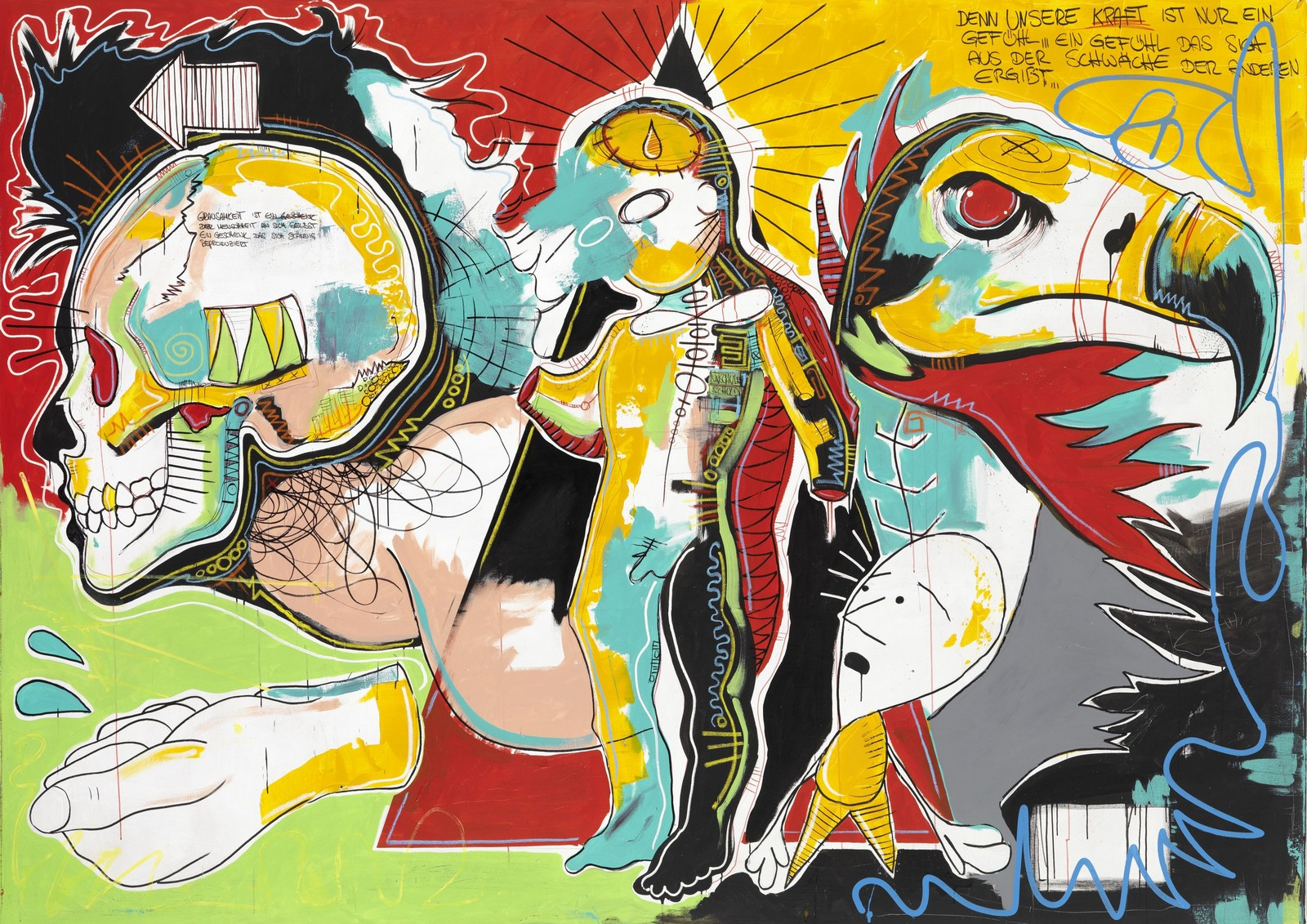 2013, acrylic and chalk on canvas, 250 x 350 cm