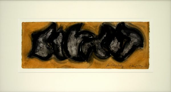 1982, mixed media on paper, signed, 57,2 x 20,5 cm