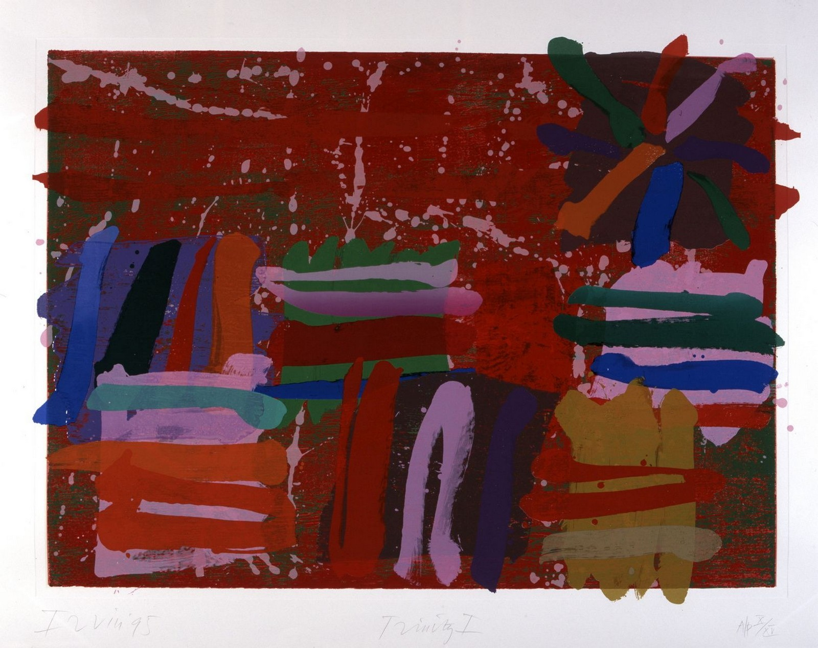1995, lithograph on paper, signed and dated, 10/125, 160 x 130 cm