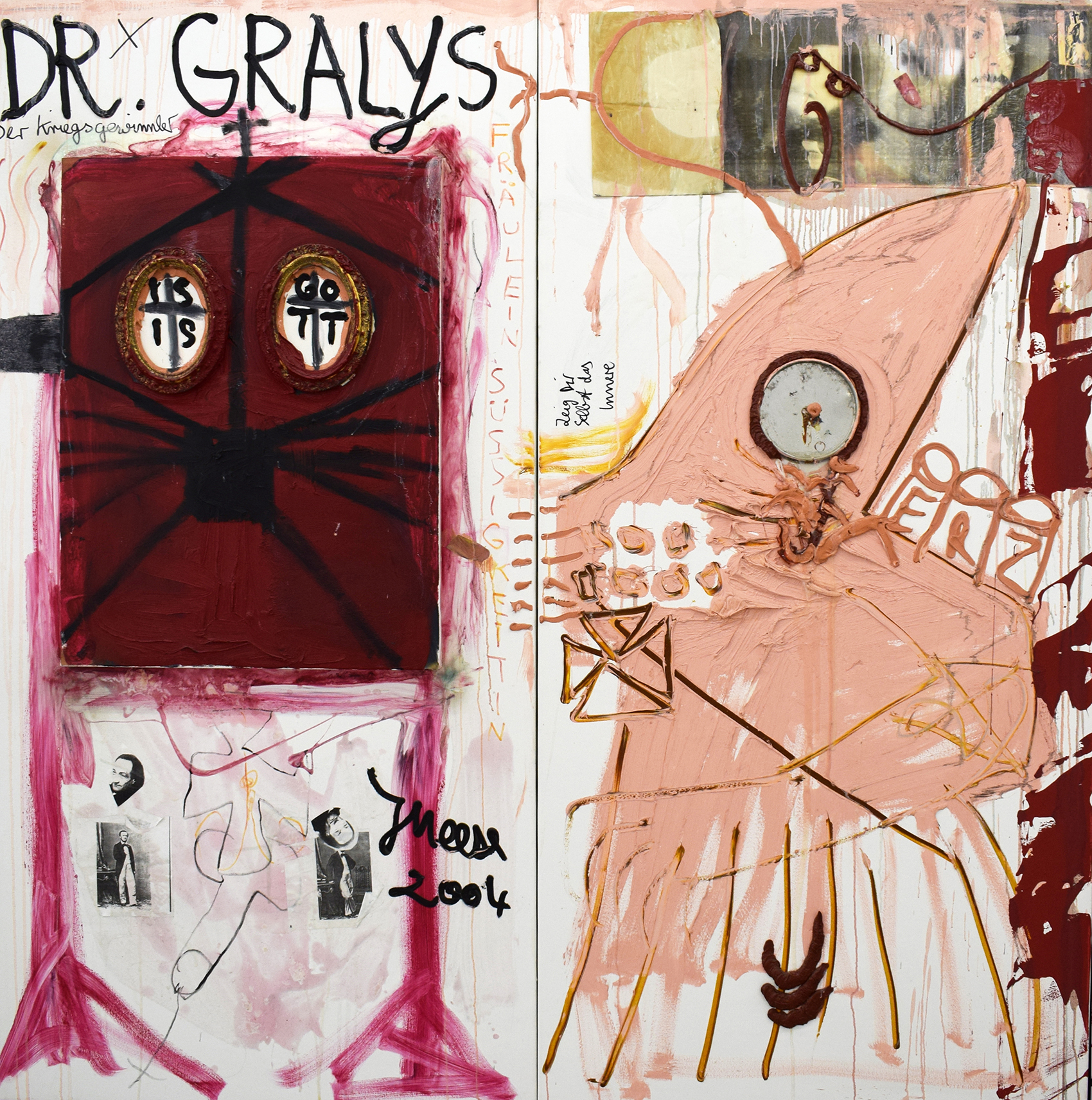 2004-2005, mixed media on canvas, 180 x 180 cm