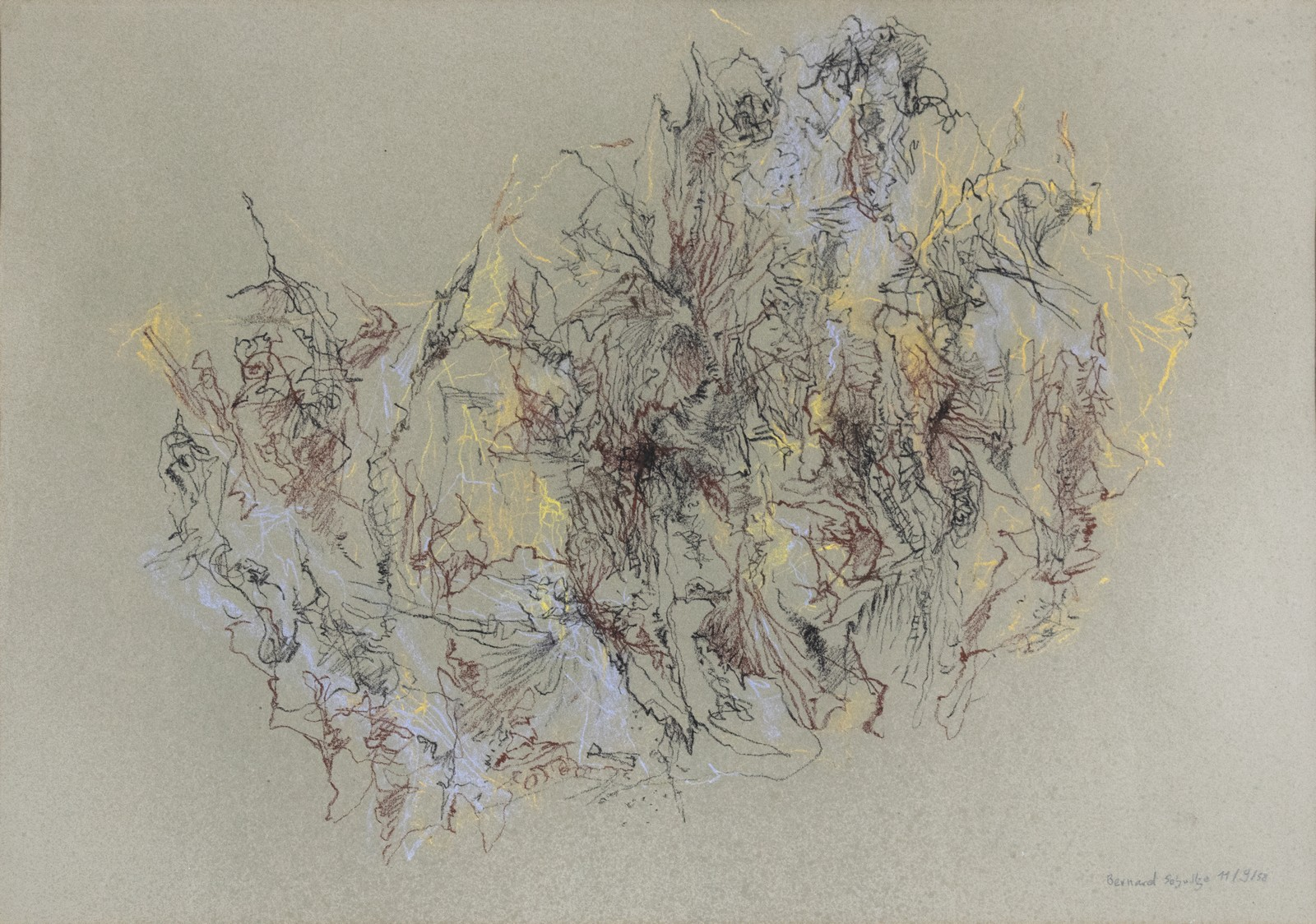 1958, chalk on paper, 44,5 x 59,8 cm