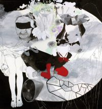 2006, acrylic and chalk on canvas, 200 x 188 cm
