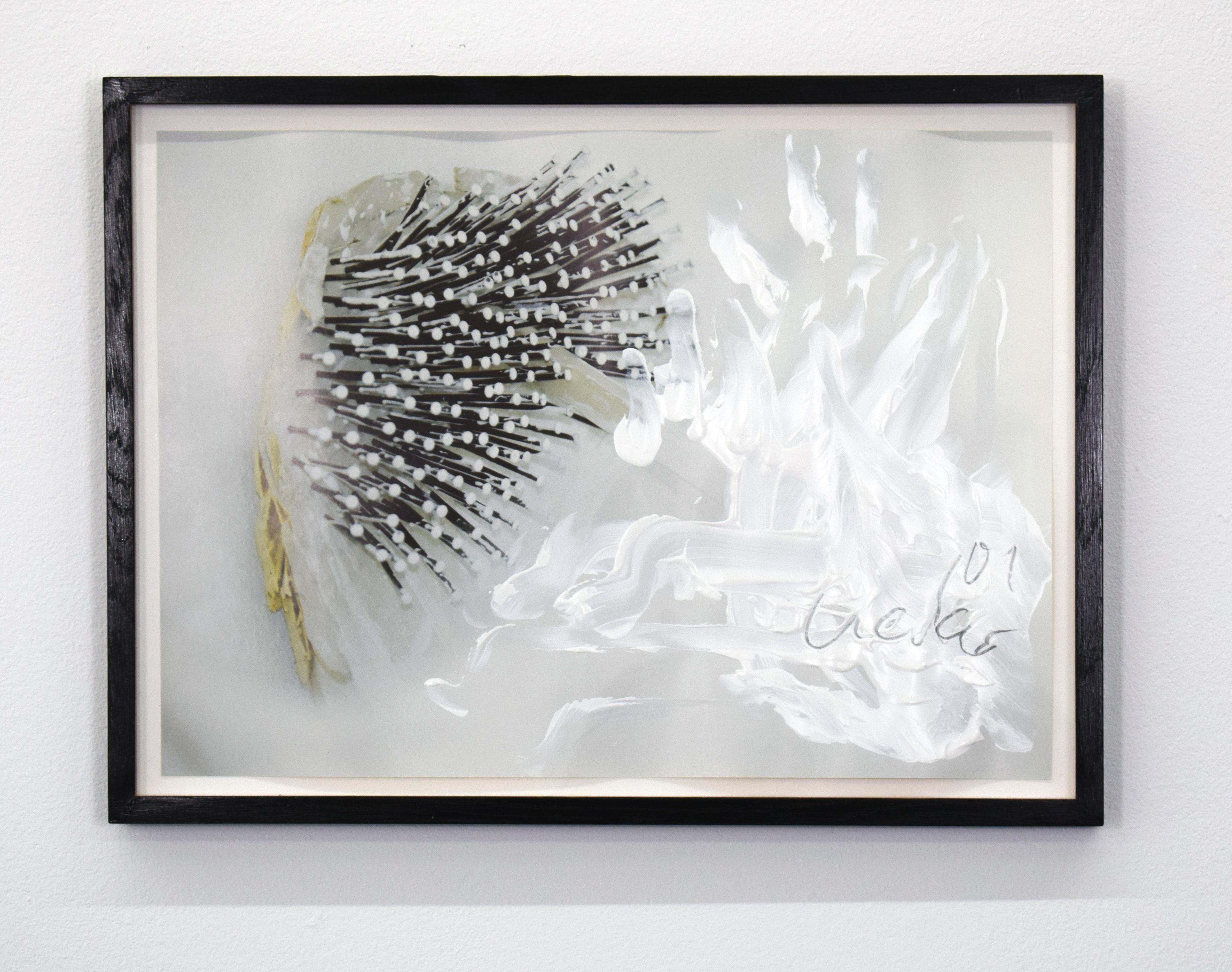 2001, painted photograph, 34.5 x 48 cm